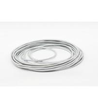 Провод круглый 2x0,75 серебристый шелк