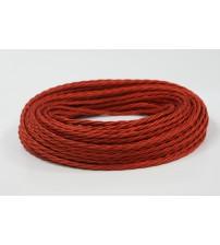 Витой провод 2х1,5 красный шелк