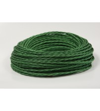 Витой провод 2х1,5 зеленый шелк