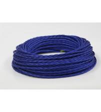 Витой провод 2х1,5 синий шелк