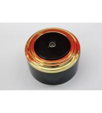 TV-розетка (черный механизм, золото рамка, черный стакан)