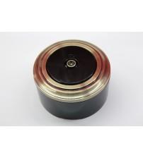 TV-розетка (черный механизм, бронза рамка, черный стакан)