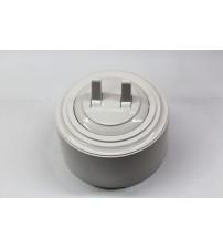 Выключатель 2-рычажковый, схема 5 (белый механизм, белая рамка, белый стакан)