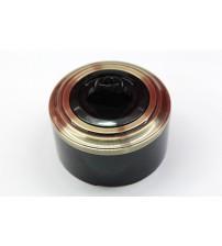 Выключатель на 2 источника света поворотный, схема 5 (черный механизм, бронза рамка, черный стакан)