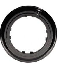 Рамка 1-постовая круглая (черный) Vintage-Classic