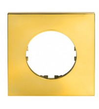 Рамка 1-постовая квадрат (золото) Vintage-Quadro
