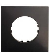 Рамка 1-постовая квадрат (черный) Vintage-Quadro