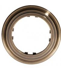 Рамка 1-постовая круглая (бронза) Vintage-Classic