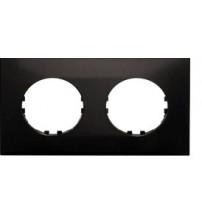 Рамка 2-постовая квадрат (черный) Vintage-Quadro