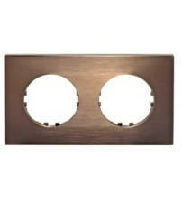 Рамка 2-постовая квадрат (бронза) Vintage-Quadro