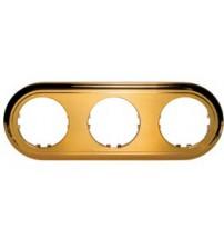 Рамка 3-постовая круглая (золото) Vintage-Classic