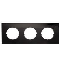Рамка 3-постовая квадрат (черный) Vintage-Quadro