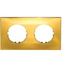 Рамка 2-постовая квадрат (золото) Vintage-Quadro