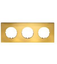Рамка 3-постовая квадрат (золото) Vintage-Quadro