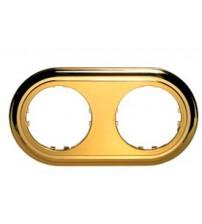 Рамка 2-постовая круглая (золото) Vintage-Classic