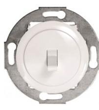 Одноклавишный выключатель (переключатель) однорычажковый на 2 направления белый