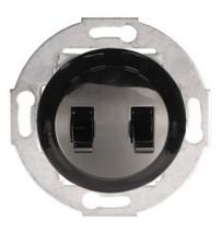 Выключатель двухрычажковый черный